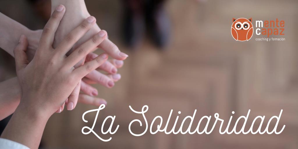 La solidaridad: pequeños actos diarios